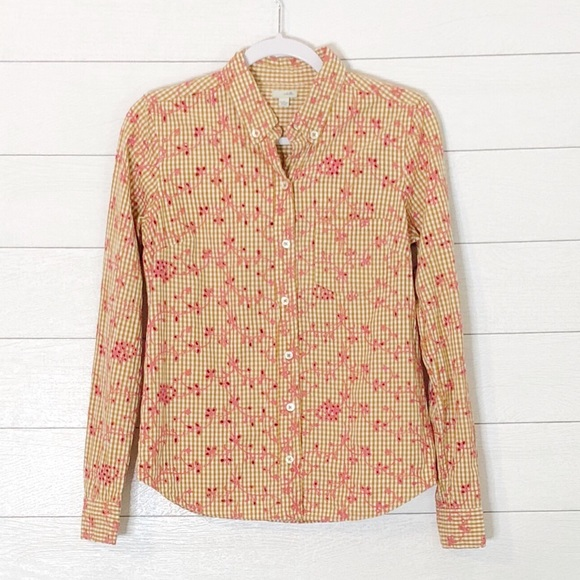 5f71894f Anthropologie Tops | Anthro Odille Plaid Embroidered Eyelet Shirt ...